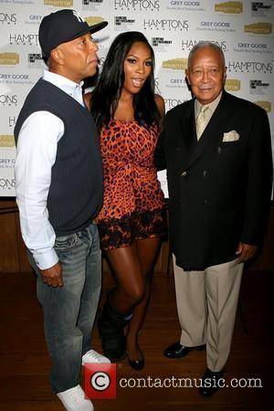 Russell Simmons, Mayor David Dinkins and Serena Williams