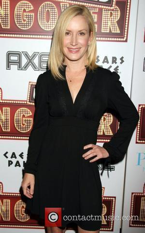 Angela Kinsey arrive to the The Hangover DVD release party at PURE nightclub in Caesars Palace Hotel and Casino Las...