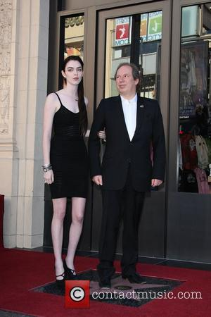 Composer Hans Zimmer and his daughter Zoe Zimmer at the German composer and music producer ceremony for the star on...