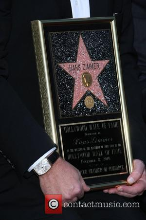 German composer and music producer Hans Zimmer receiving a star on The Hollywood Walk of Fame Los Angeles, California -...