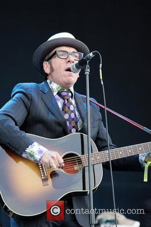 Elvis Costello performs on day 3 of Hard Rock Calling in Hyde Park London, England - 27.06.10