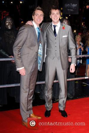 James Phelps and Oliver Phelps  World Premiere of 'Harry Potter and the Deathly Hallows Part 1' held at the...