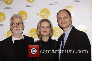 John Slattery, Cynthia Nixon and Michael Mastro Opening Act's one night only production of 'Hate Mail', a play reading to...