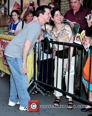Sean Hayes arriving to perform in the musical 'Promises, Promises' at the Broadway Theatre New York City, USA - 05.05.10