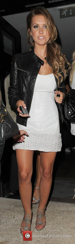 Audrina Patridge leaving 'The Hills' finale party, held at the Haymarket Hotel, appearing a little unsteady on her feet. London,...