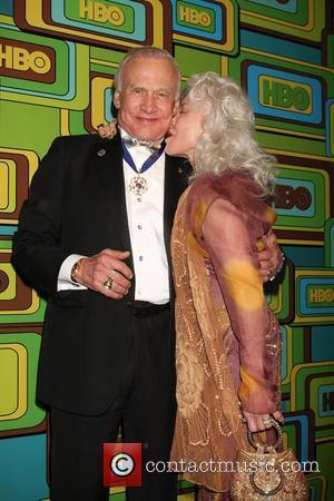 Buzz Aldrin and Lois Aldrin The HBO Golden Globe Party 2011 held at Circa 55 at the Beverly Hilton Hotel...