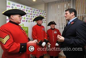 Tony Hadley with Chelsea Pensioners Help for Heroes Day at Smooth Radio. London, England - 16.11.10