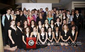 Kathie Lee Gifford, Charlotte St. Martin, Tommy Tune and Students