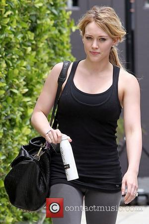 Hilary Duff leaving a gym in West Hollywood wearing her diamond engagement ring Los Angeles, California - 08.07.10