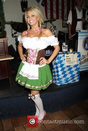 Angel Porrino Holly Madison taps the Oktoberfest Keg at Hofbrauhaus  Las Vegas, Nevada - 08.10.10