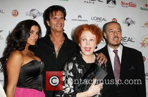 Lorenzo Lamas mother Arlene Dahl the 50th anniversary birthday bash for the Hollywood Walk of Fame Held On the Walk...