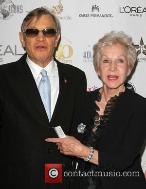 Michael York and his wife Patricia McCallum the 50th anniversary birthday bash for the Hollywood Walk of Fame Held On...
