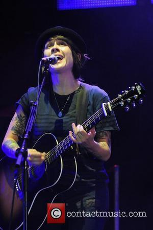 Tegan Quin of Tegan and Sara  performs on stage during the Honda Civic Tour at Bayfront Park Amphitheater...