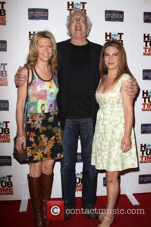 Chevy Chase with wife, Jayni Luke and daughter Caley Leigh Chase  MGM & United Artisits' 'Hot Tub Time Machine'...