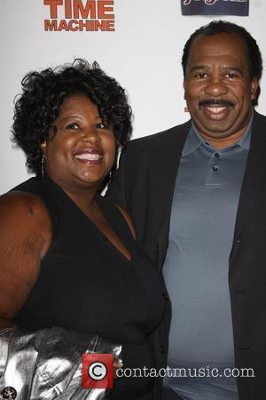 Leslie David Baker and Guest MGM & United Artisits' 'Hot Tub Time Machine' after party, held at Cabana Club in...