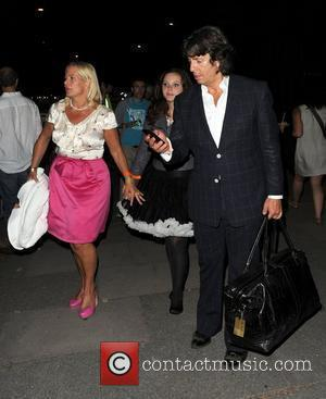 Laurence Llewelyn-Bowen with wife Jackie Llewelyn-Bowen and daughter Cecile Llewelyn-Bowen at House Festival helsd at Chiswick House and Gardens London,...