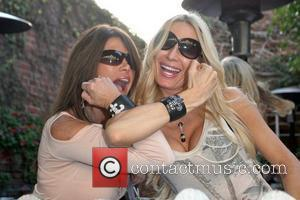 Lynne Curtin, Peggy Tanous Cast members of 'The Real Housewives of Orange County' eating lunch at The Ivy Los Angeles,...