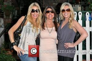 Peggy Tanous, Lynne Curtin and Tamra Barney Cast members of 'The Real Housewives of Orange County' eating lunch at The...