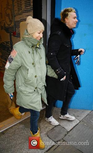 Natalie Appleton and Liam Howlett go shopping together at Urban Outfitters in London London, England - 01.12.10