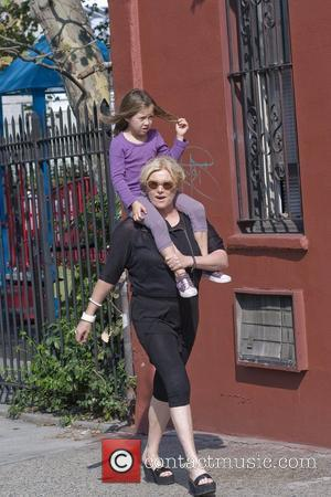 Deborra-Lee Furness  walking home with her daughter Ava after collecting her from school New York City, USA - 23.09.10