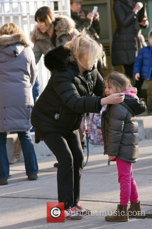 Deborra-Lee Furness and her daughter Ava Jackman take a walk in Manhattan New York City, USA - 06.01.11