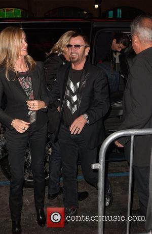Barbara Bach and Ringo Starr Hard Rock Hosts Imagine There's No Hunger Launching Global Campaigan in Support of WHYHUNGER'S Fight...
