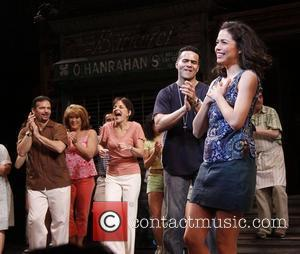 Rick Negron, Priscilla Lopez, Christopher Jackson, Arielle Jacobs and cast  Closing night of the Broadway musical 'In the Heights'...