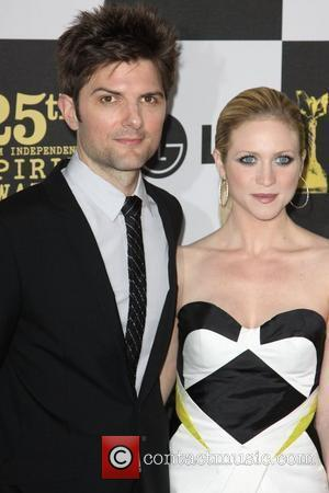 Adam Scott and Brittany Snow