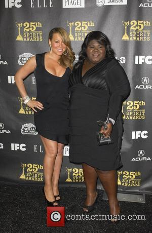Mariah Carey and Gabourey Sidibe