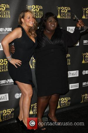 Gabourey Sidibe and Mariah Carey
