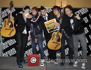 Marianas Trench  in the press room of the Indies - 10th Annual Independent Music Awards held at The Fairmont...