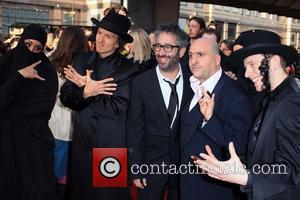 David Baddiel and Omid Djalili  World premiere gala screening of 'The Infidel' held at the Hammersmith Apollo  London,...