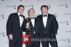 Jimmy Fallon, Lorne Michaels and Alec Baldwin  38th International EMMY Awards - Press Room New York City, USA -...