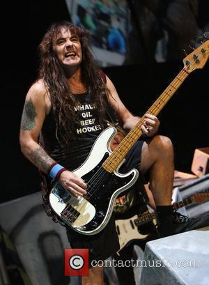 Steve Harris Iron Maiden performing at Madison Square Garden on the 'The Final Frontier World Tour'  New York City,...