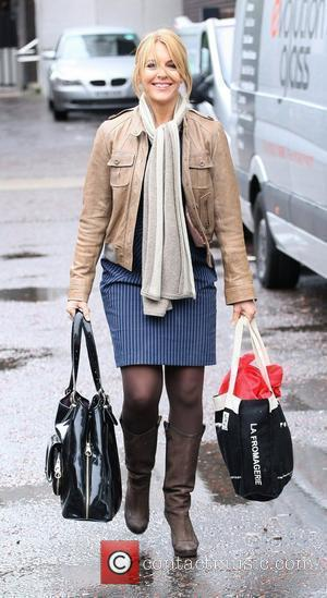 Helen Fospero leaving the London studios after appearing on GMTV London, England - 27.08.10