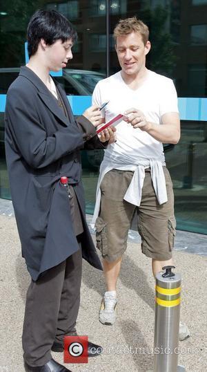 Ben Shephard outside the ITV studios London, England -