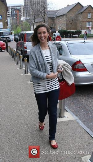 Emma Crosby Celebrities outside the ITV television studios. London, England - 26.04.10