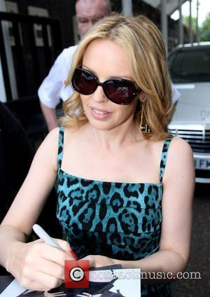 Kylie Minogue leaves the ITV studios after appearing on 'GMTV' London, England - 02.07.10