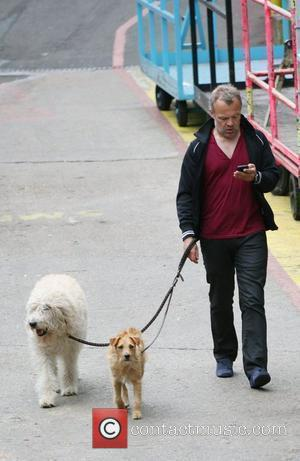 Graham Norton with his Dogs Celebrities outside the ITV television studios. London, England - 10.06.10