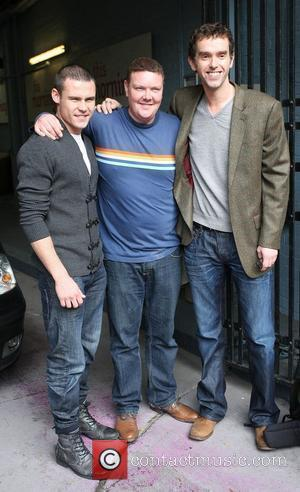 Danny Miller, Dominic Brunt and Mark Charnock outside the ITV studios London, England - 06.10.10