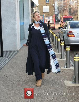 Penny Smith leaving the ITV studios London, England - 04.01.10