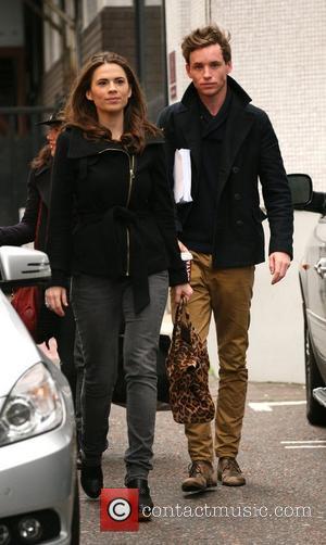 Hayley Atwell and Eddie Redmayne outside the ITV studios London, England - 05.11.10