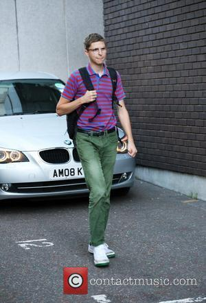 Michael Cera leaving the London Studios after appearing on GMTV to promote his new movie Scott Pilgrim vs. the World...
