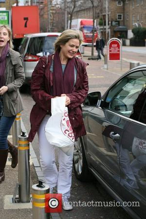Penny Smith outside the ITV studios London, England - 26.03.10