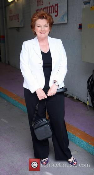Brenda Blethyn Celebrities outside the ITV television studios. London, England - 06.07.10