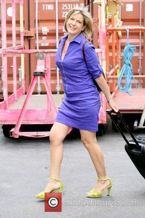 Penny Smith Celebrities outside the ITV studios London, England - 06.07.10