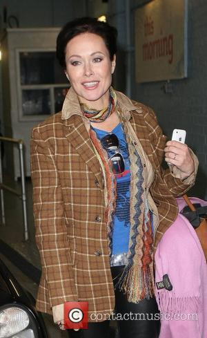 Amanda Mealing Celebrities outside the ITV television studios. London, England - 26.10.10