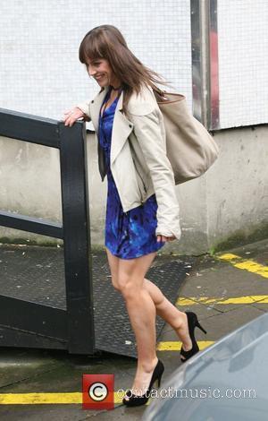 Jill Halfpenny outside the ITV studios London, England - 24.09.10