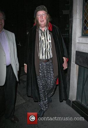John McCririck arriving at the Ivy restaurant in a dirty shirt. London, England - 03.09.10