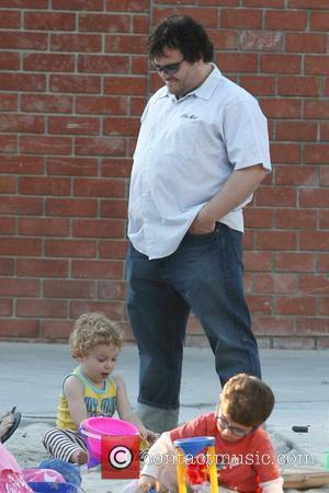 Sammy Black and Jack Black Jack Black goes to a park in Beverly Hills with his wife and children Los...